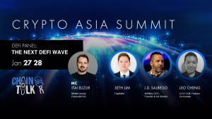 The next defi wave, crypto asia summit chaintalk cefi creamfinance mulan xrp seth lim anrkeyx gaming